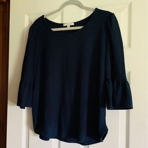 Green Envelope NAVY Soft Comfy Stretch Bell Sleeve